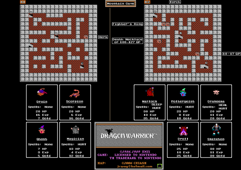 File:Dragon Warrior - NES - Map - Mountain Cave.png