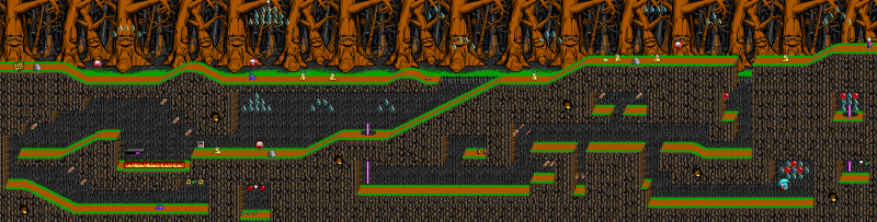 File:Commander Keen 4 - DOS - Map - Slug Village.png