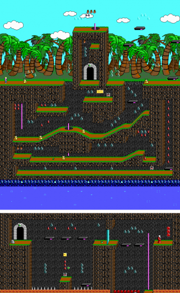 File:Commander Keen 4 - DOS - Map - Lifewater Oasis.png