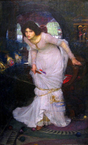 File:John William Waterhouse - 1894 - The Lady of Shallot Looking At Lancelot.jpg