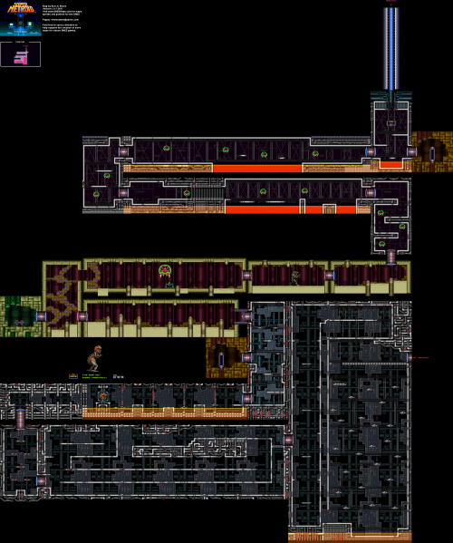 File:Super Metroid - SNES - Map - Tourian.png
