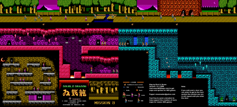 File:Double Dragon - NES - Map - Mission 3.png