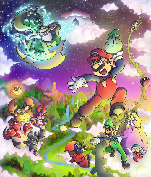 File:Super Mario Bros. 2 - NES - Fan Art by SuperCaterina.jpg