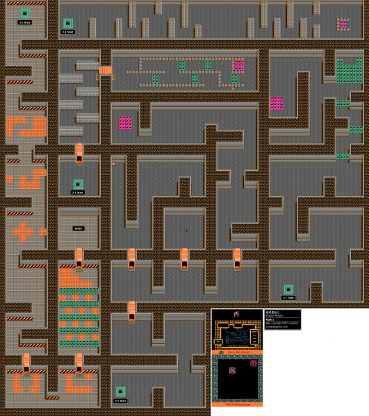 File:Blaster Master - NES - Map - Area 3 - Interiors.png