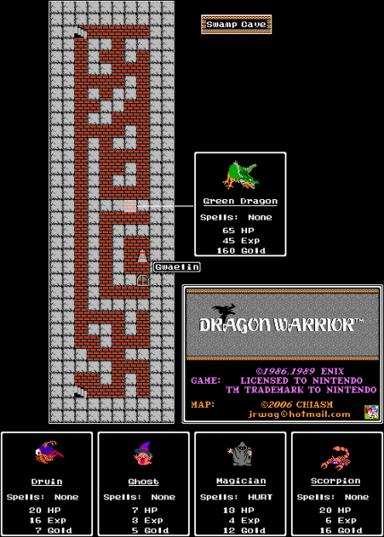 File:Dragon Warrior - NES - Map - Swamp Cave.png