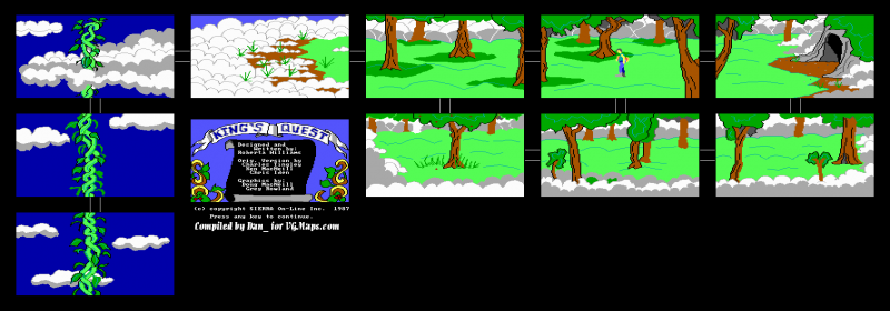 File:King's Quest - DOS - Map - Sky Land.png