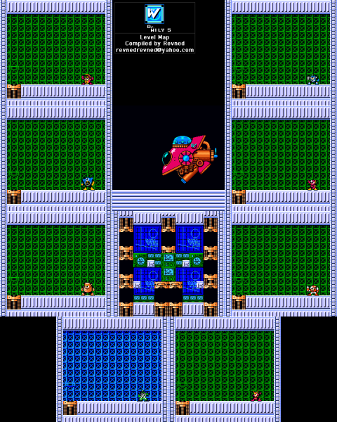 File:Mega Man 2 - Map - Dr Wily 5.png