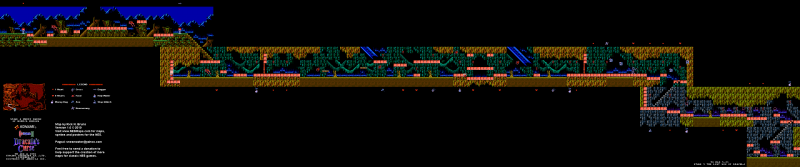 File:Castlevania III - Dracula's Curse - NES - Map - 4-1 - Murky Marsh of Morbid Morons.png
