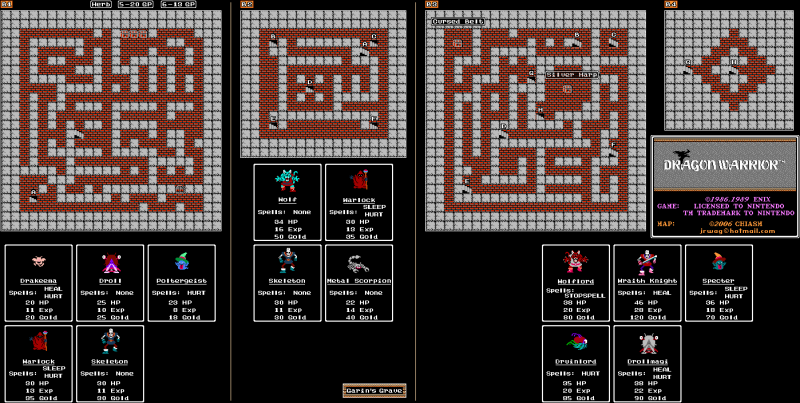File:Dragon Warrior - NES - Map - Garin's Grave.png