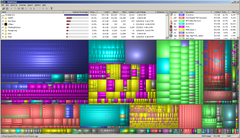 File:WinDirStat - Screenshot - Black Graph.png