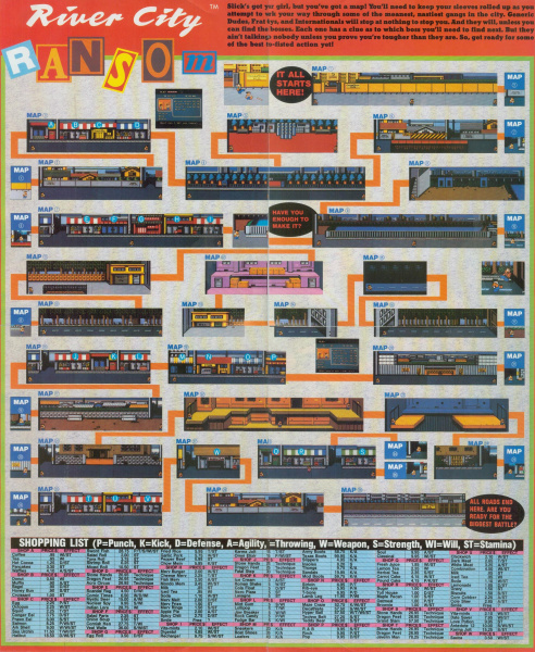 File:River City Ransom - NES - Game Map.jpg