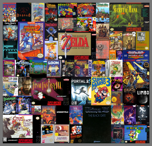 File:Collage - Favorite Video Games.png