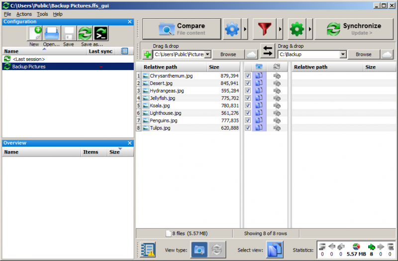 File:FreeFileSync - Screenshot - Comparison.png