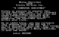 Computer Christmas, A - Screenshot - PCjr - Title.png