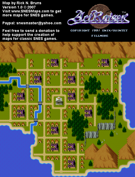 File:ActRaiser - SNES - Map - Fillmore City - Populated.png