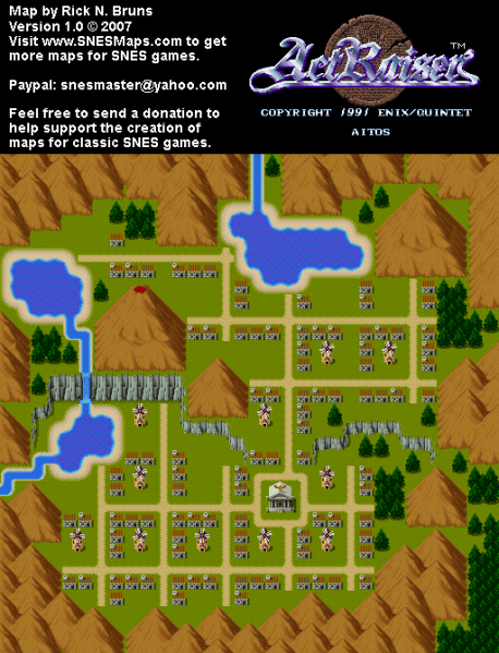 File:ActRaiser - SNES - Map - Aitos City - Populated.png