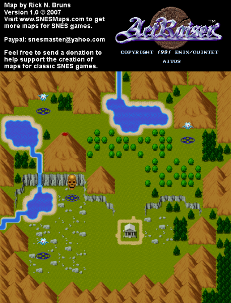 File:ActRaiser - SNES - Map - Aitos City - Unpopulated.png