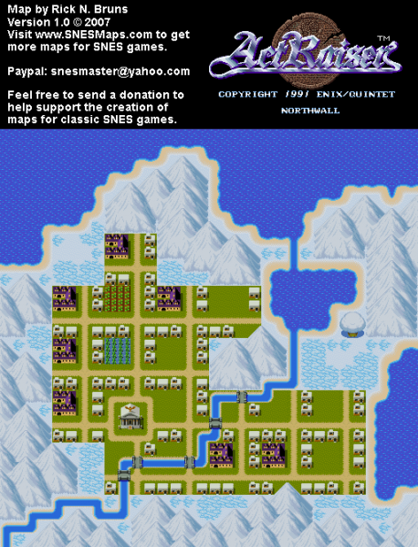 File:ActRaiser - SNES - Map - Northwall City - Populated.png