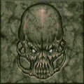 Doom - DOS - Texture - Green Marble Alien Face.png