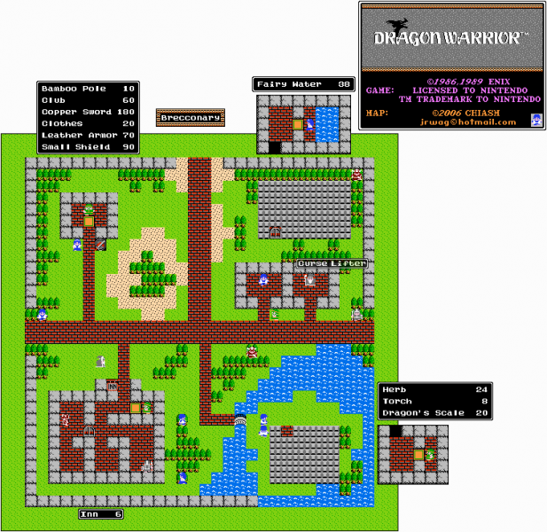 File:Dragon Warrior - NES - Map - Brecconary.png